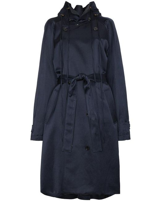 Y. Project - Blue Double Breasted Trench Coat - Lyst