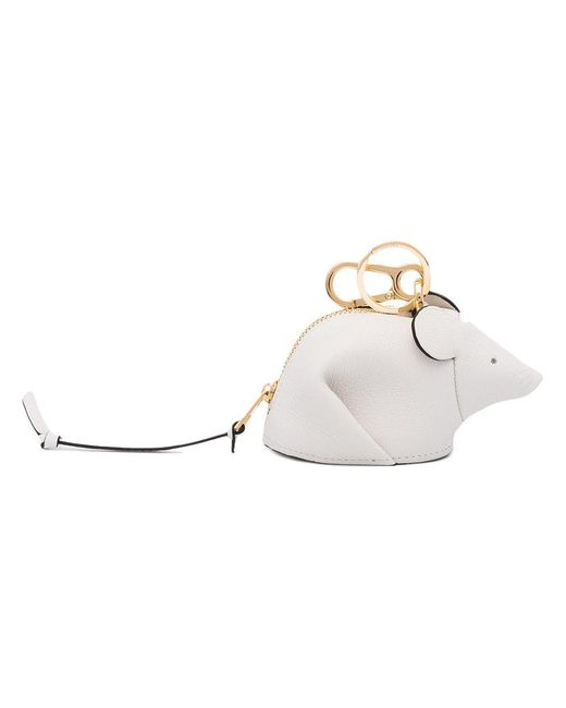 Loewe - White Leather Mouse Shaped Bag Charm - Lyst