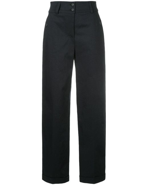 Jil Sander Navy - Black High-waisted Tailored Trousers - Lyst