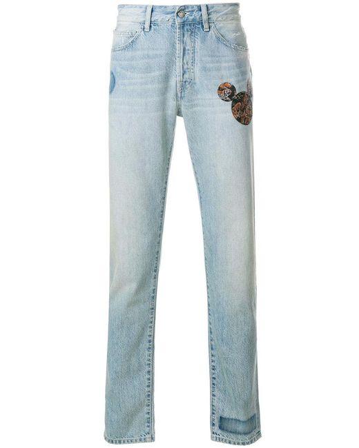 Marcelo Burlon - Blue Mickey Mouse Jeans for Men - Lyst