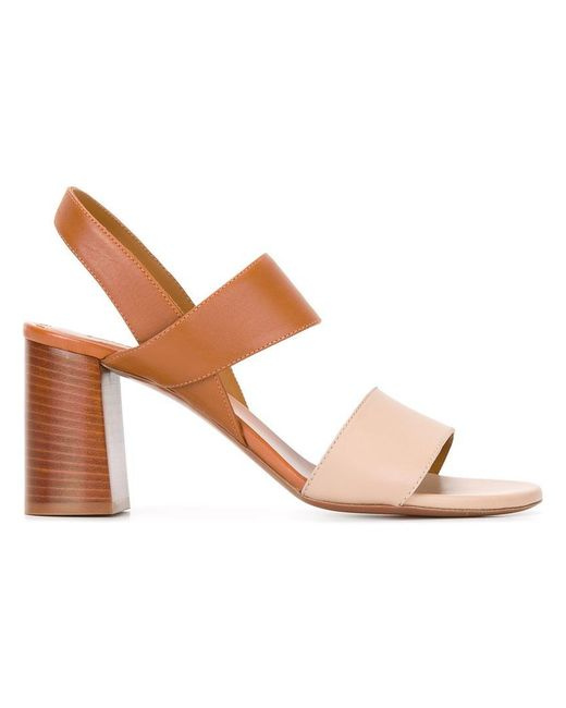 Chloé | Brown Mia Sandals | Lyst