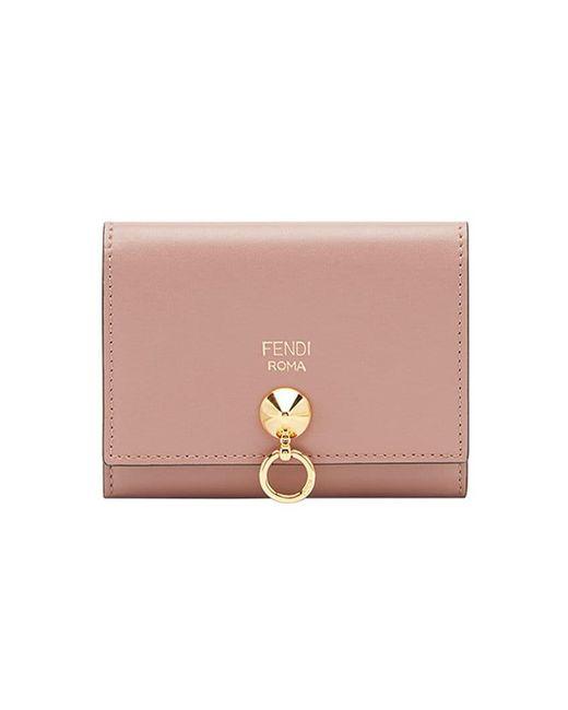 Fendi - Pink Compact Wallet - Lyst