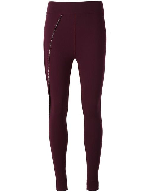 No Ka 'oi   Purple Embellished Detail Leggings   Lyst
