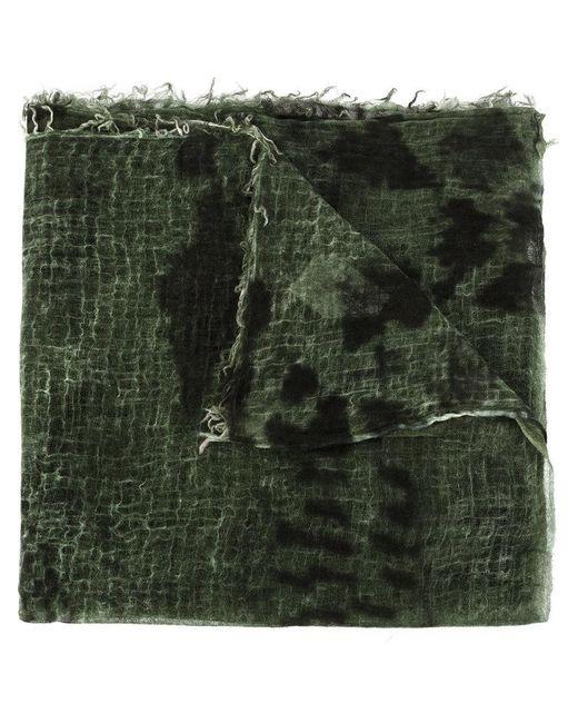 Avant Toi - Green Tie-dye Fringed Scarf - Lyst