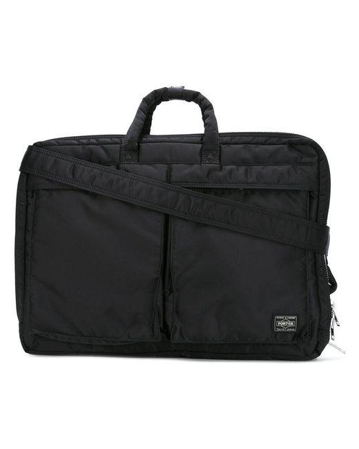 Porter   Black Tanker 3way Briefcase for Men   Lyst