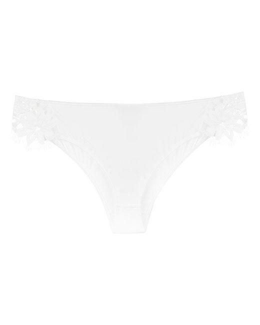 For Love & Lemons - White Sage Bikini Lace Brief - Lyst