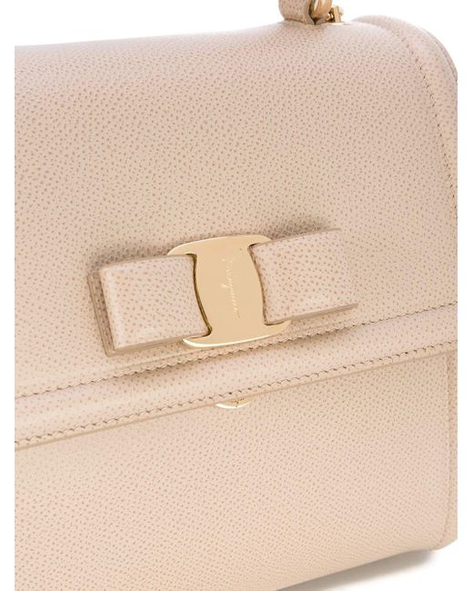 22f9db4780f6 ... Ferragamo - Natural Vara Top Handle Bag - Lyst ...