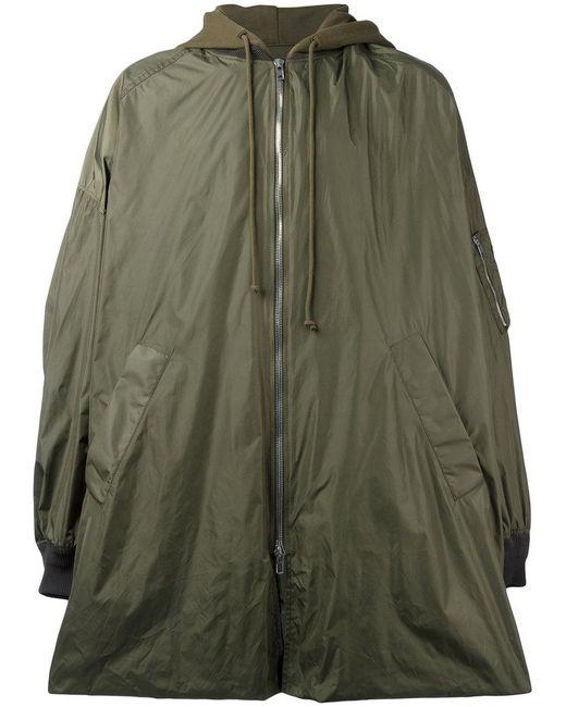 Juun.J   Green Hooded Oversized Coat for Men   Lyst