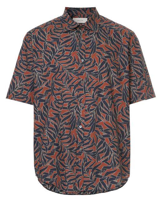 Cerruti 1881 - Red Leaf Print Shirt for Men - Lyst