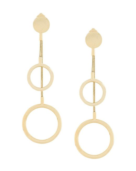 Isabel Marant - Metallic Asymmetric Circle Drop Earrings - Lyst