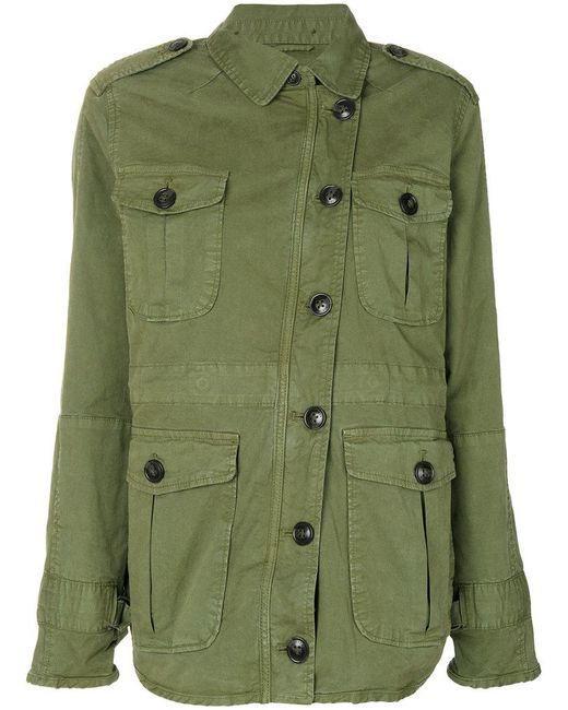 Closed | Green Off Centre Cargo Jacket | Lyst