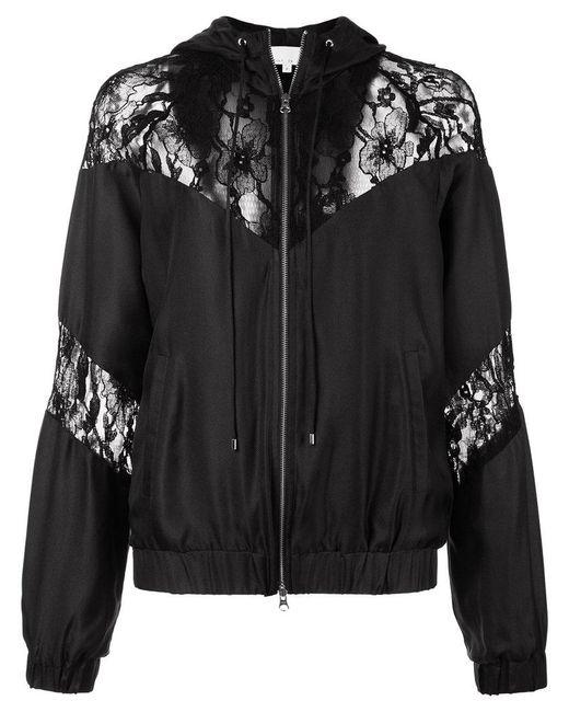 Fleur du Mal - Black Lace Detail Track Jacket - Lyst