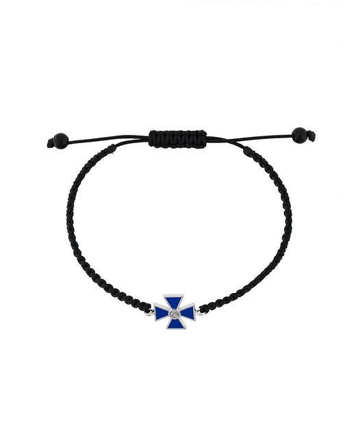 Gemco | Black Maltese Cross Rope Bracelet for Men | Lyst