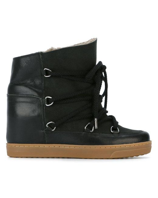 Isabel Marant - Black Nowles Leather Ankle Boots - Lyst
