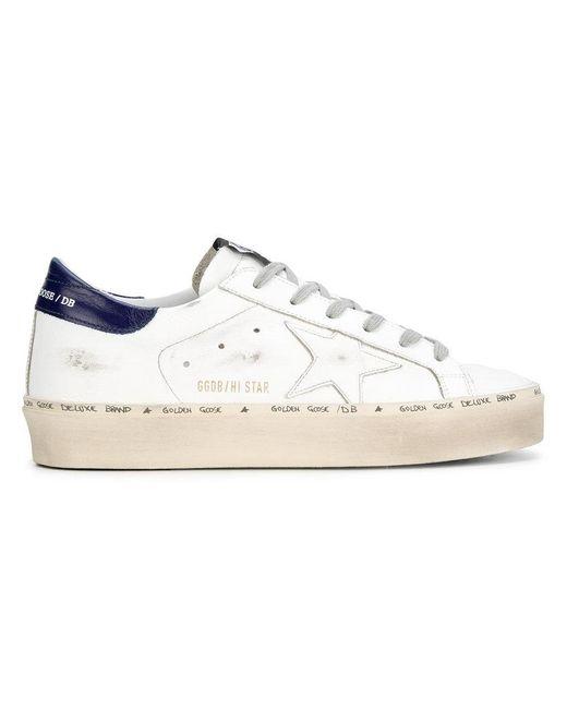 Golden Goose Deluxe Brand - White Hi Star Sneakers - Lyst