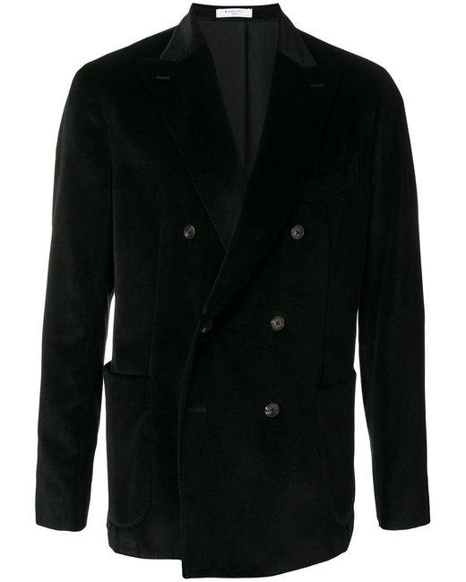 Boglioli - Black Velvet Double Breasted Jacket for Men - Lyst