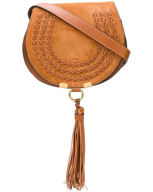 Chloé - Brown Mini Marcie Tassel Bag - Lyst