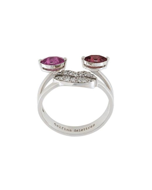 Delfina Delettrez - Metallic Face Embellished Ring - Lyst