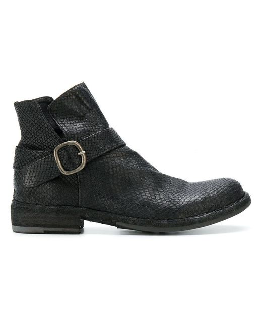 Officine Creative - Black Legrand Buckle Boots - Lyst