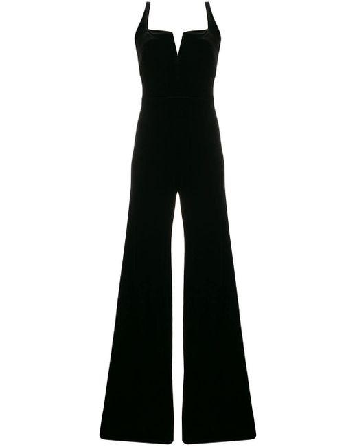 Galvan - Black Velvet Elipse Jumpsuit - Lyst