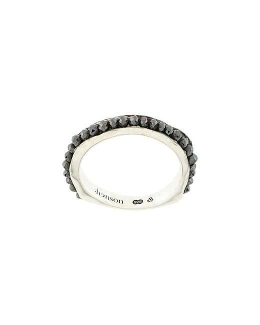 Henson - Black Beaded Ring - Lyst
