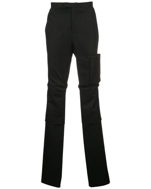 Raf Simons Black Patch Pocket High Waist Trousers for men