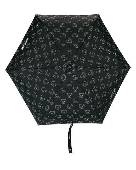 Moschino - Black A Bear And Logo Print Umbrella - Lyst