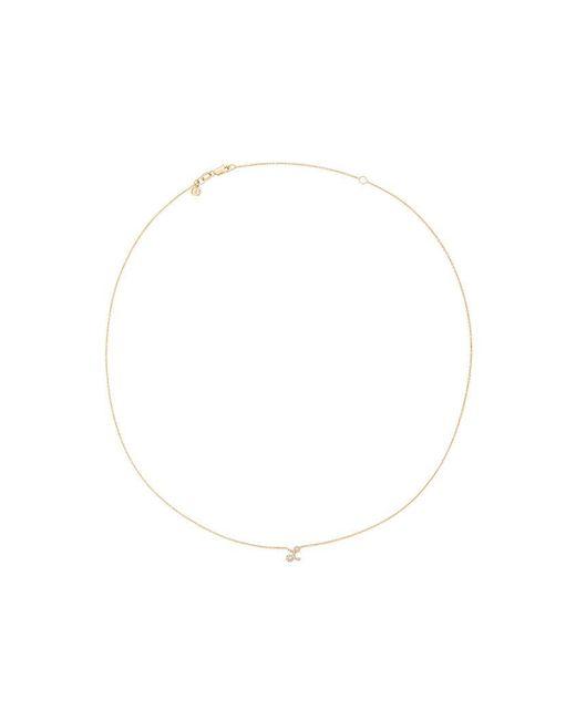 Sydney Evan - Metallic Diamond L Necklace - Lyst