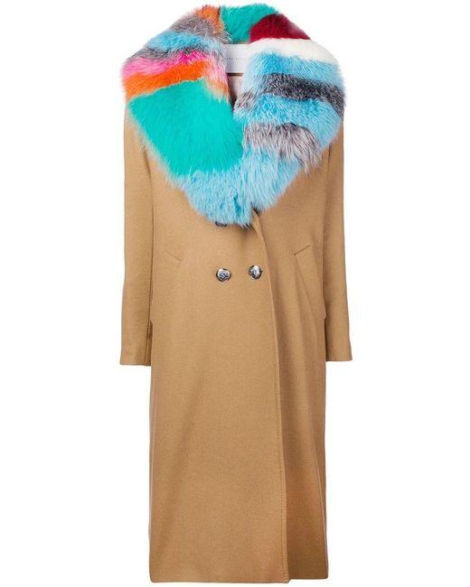 Giada Benincasa - Multicolor Contrast Collar Coat - Lyst