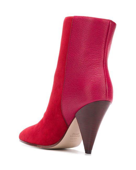 Weitzman Boots Cone In Lyst Stuart Heel Red Zqw45STx