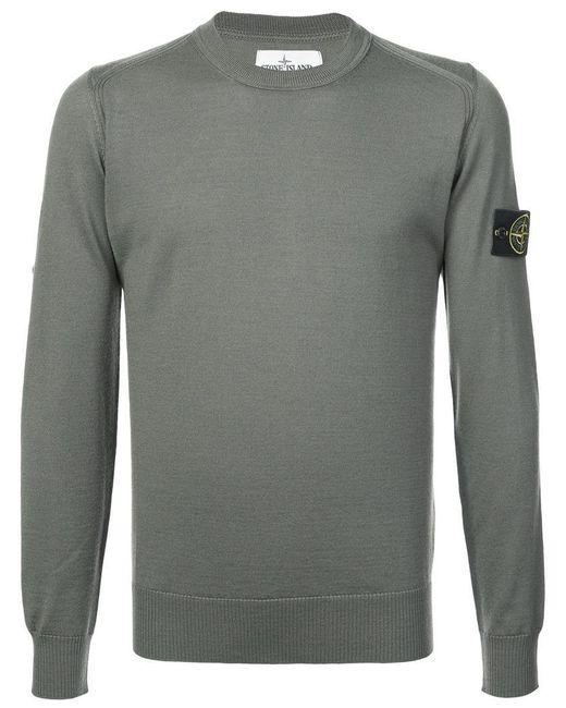 Stone Island - Green Crew Neck Sweater for Men - Lyst