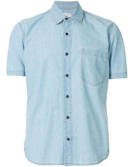 Cerruti 1881 - Blue Short Sleeve Denim Shirt for Men - Lyst