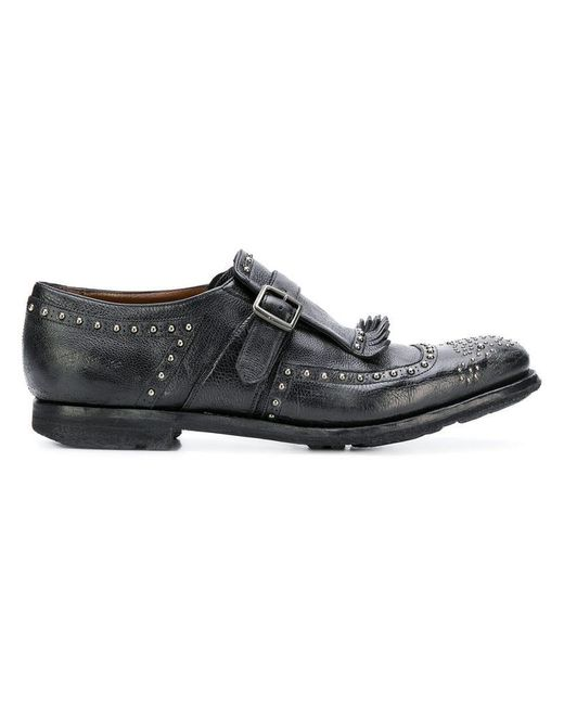 e0f8951a3f466 Church s - Black Studded Monk Shoes for Men - Lyst ...