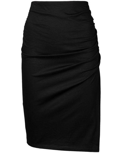 Paule Ka - Black Draped Skirt - Lyst