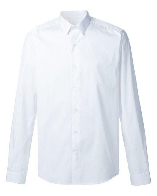AMI - White Classic Collar Shirt for Men - Lyst