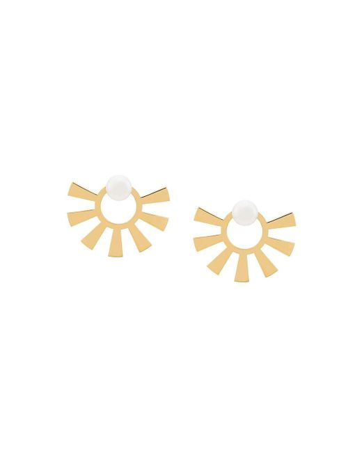 Wouters & Hendrix Metallic Technofossils Pearl Earrings