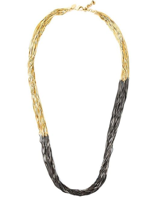 Iosselliani | Metallic 'black Hole Sun' Long Necklace | Lyst