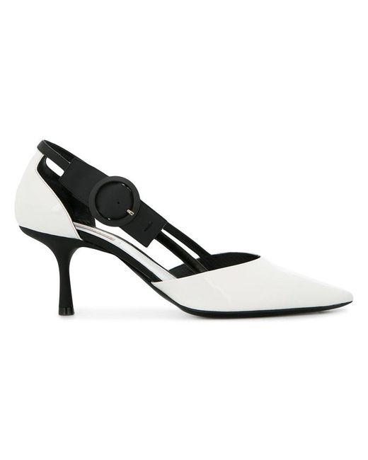 Fabrizio Viti - White Ankle Strap Sling Pump - Lyst