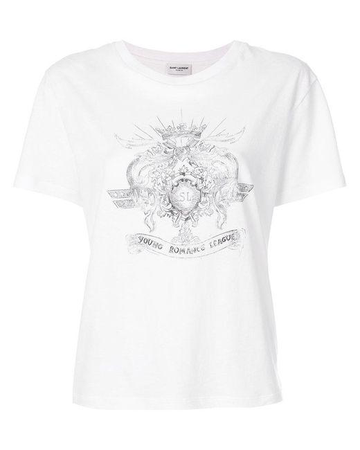 Saint Laurent - White Young Romance League T-shirt - Lyst