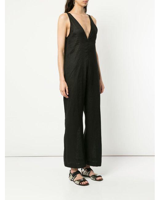 aa0cfb25ca ... The Upside - Black Sleeveless V-neck Jumpsuit - Lyst ...