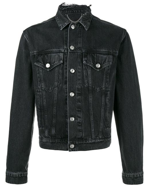 12741b8905 Lyst - Balenciaga Sinners Denim Jacket in Black for Men