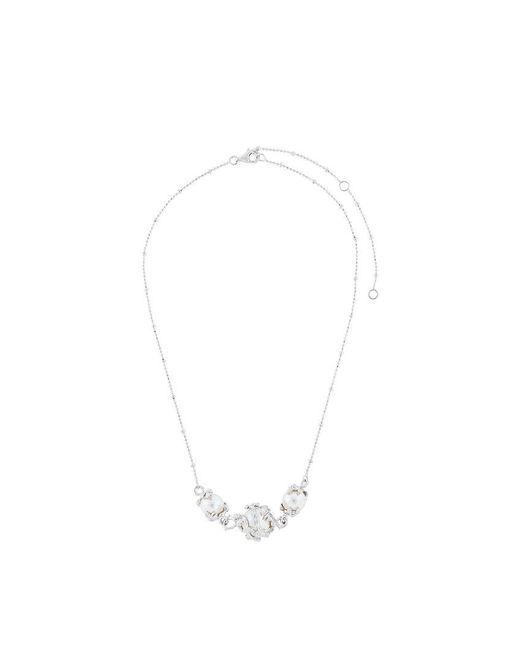 Kasun - Metallic Three Pearl Necklace - Lyst
