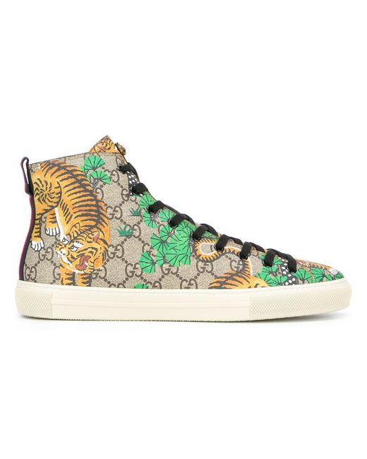 Gucci | Multicolor Bengal Hi-top Sneakers for Men | Lyst