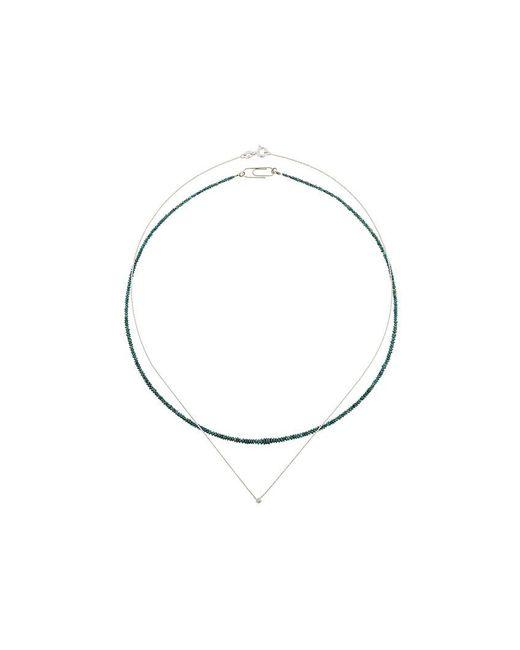 Uzerai Edits | Green Blue Diamond Necklace Set | Lyst