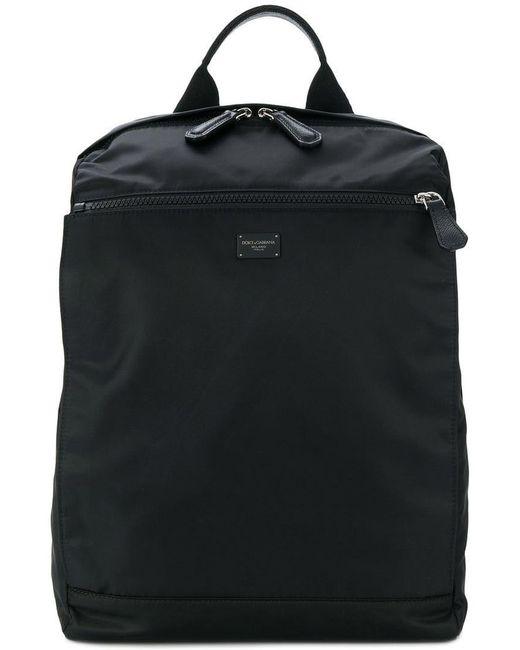 Dolce   Gabbana - Black Rectangular Backpack for Men - Lyst ... 56a41be9dd2c7