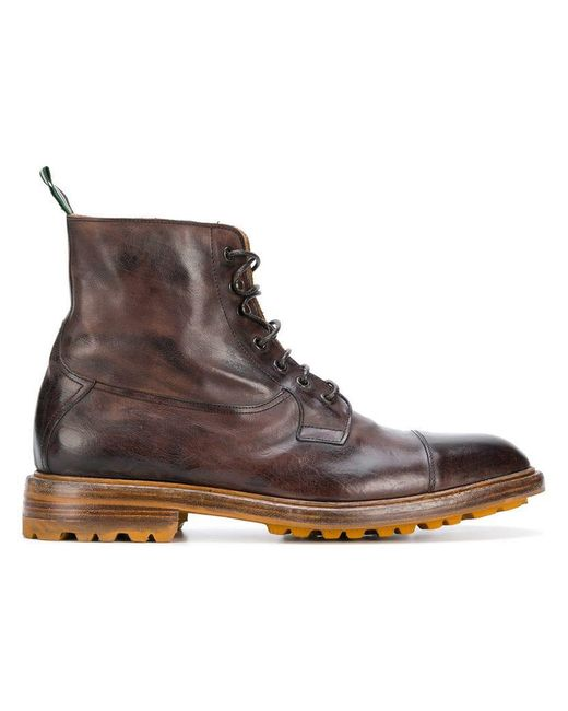 Green George - Brown Lace-up Boots for Men - Lyst