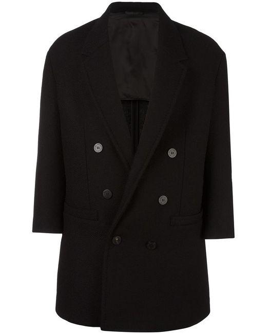 Neil Barrett - Black Oversize Double-breasted Coat - Lyst