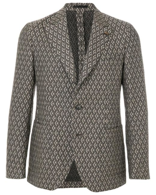 Gabriele Pasini | Brown Geometric Patterned Blazer for Men | Lyst