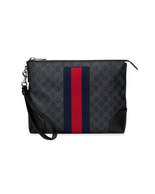 a947a14da Gucci - Black GG Supreme Men's Bag for Men - Lyst ...