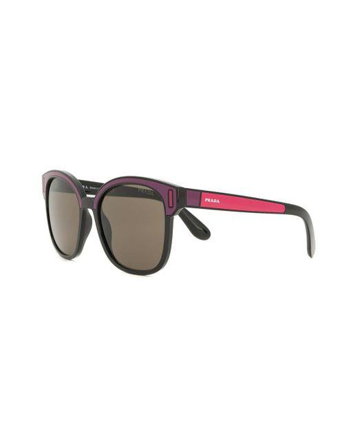 ece6bc892db ... Prada - Pink Colourblock Square Sunglasses - Lyst ...